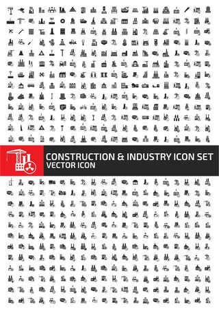 Construction and industry icon set vector concept design Illustration