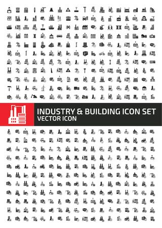 Industrial and building icon set vector concept design Stok Fotoğraf - 129960104