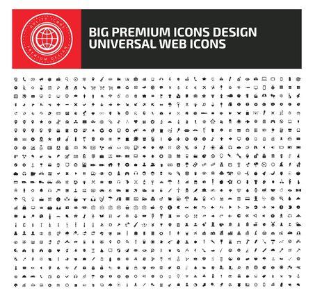 Big icon set vector concept design