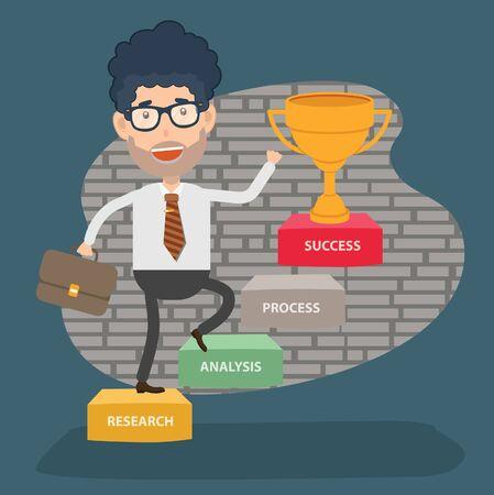 Success Businessman vector concept design 向量圖像