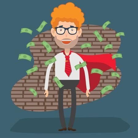 Investment Businessman vector concept design