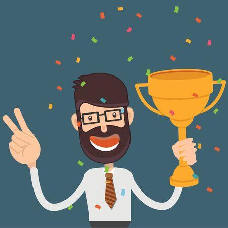 Award Businessman vector concept design 向量圖像