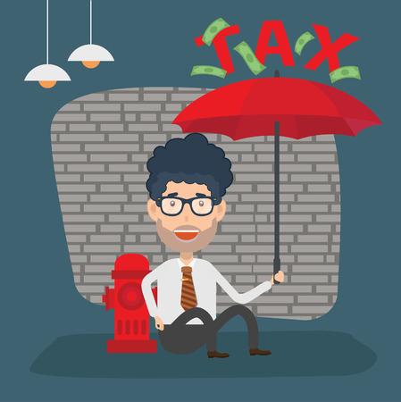 Tax businessman concept vector design Illustration