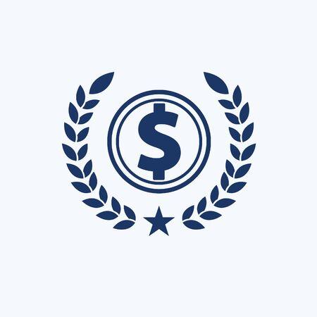 Dollar icon vector concept design