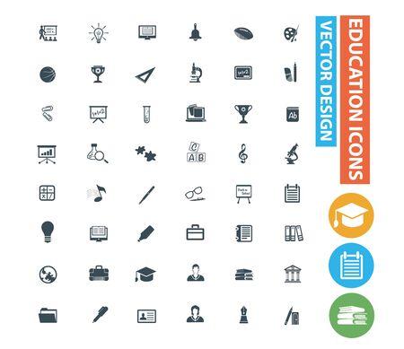 Education icon set vector concept design
