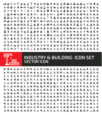 Industrial and building vector icon set Standard-Bild - 122274140