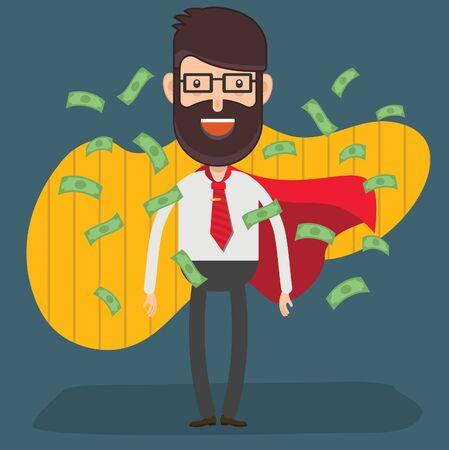 Financial businessman vector concept design
