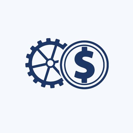 Dollar vector icon design