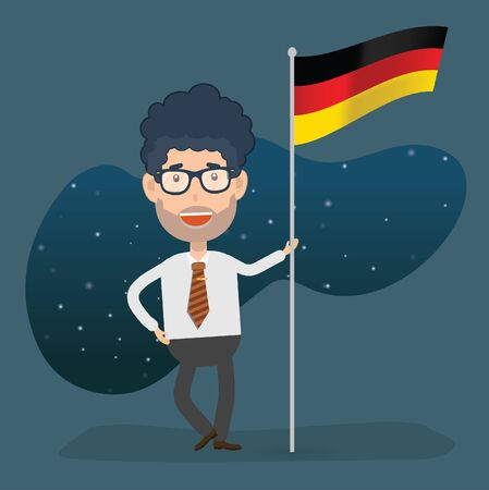 Germany businessman character concept design