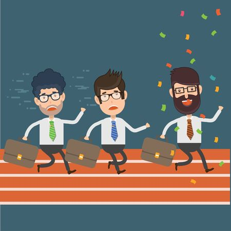 Running Businessman character concept vector design