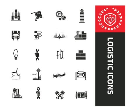 Logistic vector icon set design