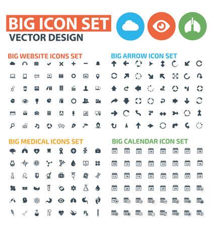 Big icon set vector design