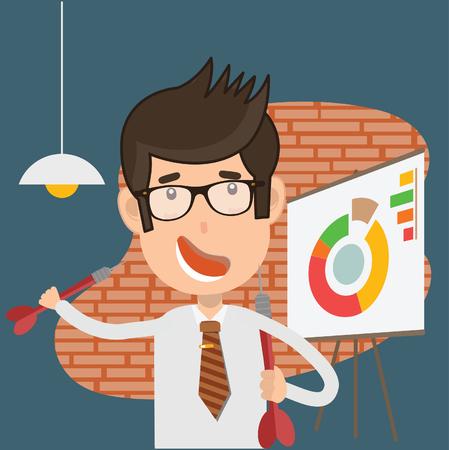 Businessman vector concept design Ilustrace