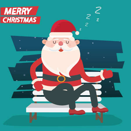 Santa clause character vector concept design