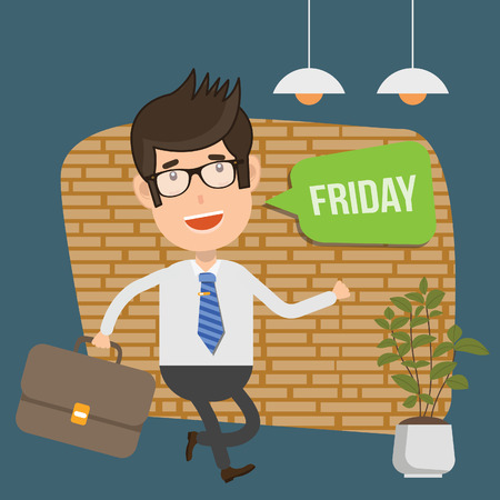 Friday Businessman vector concept design