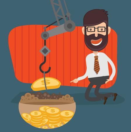 Businessman vector icon design Illustration