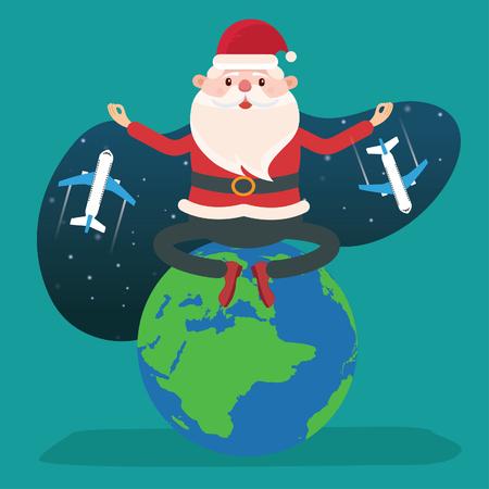 Santa clause vector concept design Ilustração