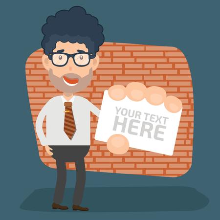 Businessman vector concept design Illustration