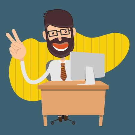 Conception de concept de vecteur homme d'affaires Vecteurs