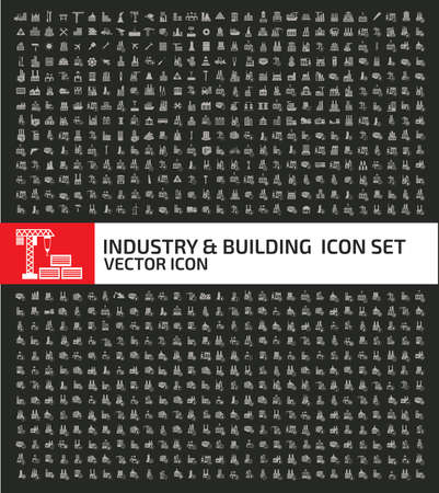 Industrial and cargo vector icon set design