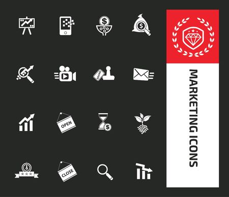 Marketing icon vector infographic design