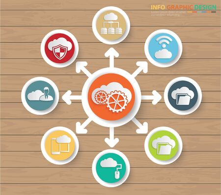 Cloud computing infographics vector icon design Stok Fotoğraf - 131668596
