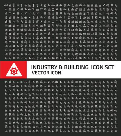 Industrial and building vector icon set design 矢量图像