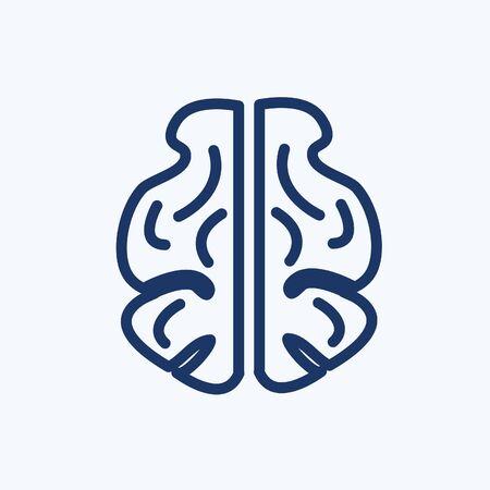 Brain vector icon design