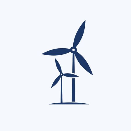 Wind turbine vector icon design Stok Fotoğraf - 131668608