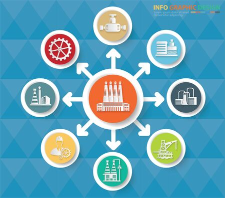Industrial and energy infographics vector icon design Stok Fotoğraf - 131668433
