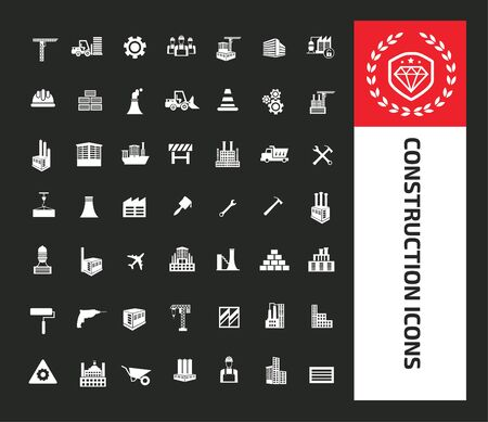 Construction icon vector infographic design 矢量图像
