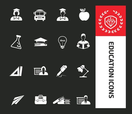 Education vector icon set design