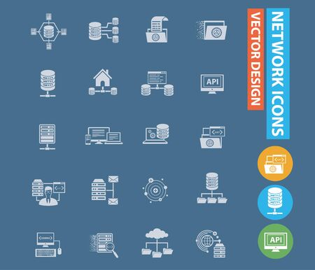 Network and database icon vector infographic design 矢量图像