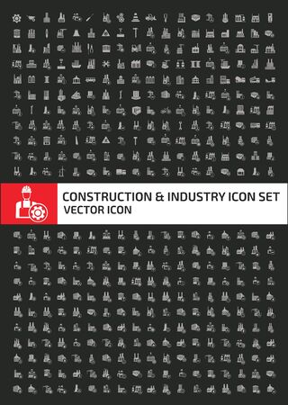 Engineer and industry icon set design 矢量图像