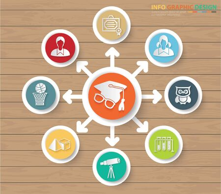 Education and school infographics vector icon design