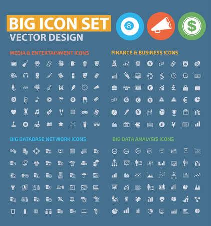 Website icon set vector design