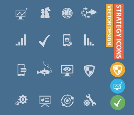Strategy and marketing vector icon design