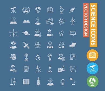 Science and education vector icon design