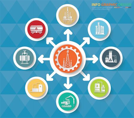 Industrial infographics vector icon design 矢量图像