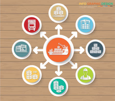 Logistic and cargo infographics icon vector design