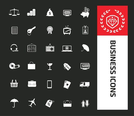Business and financial vector icon set design