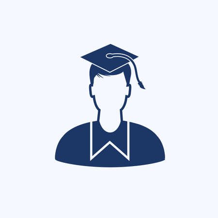 Boy student vector icon design