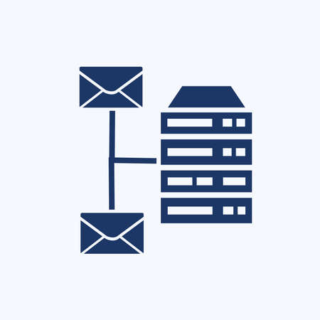 Database and server icon vector design