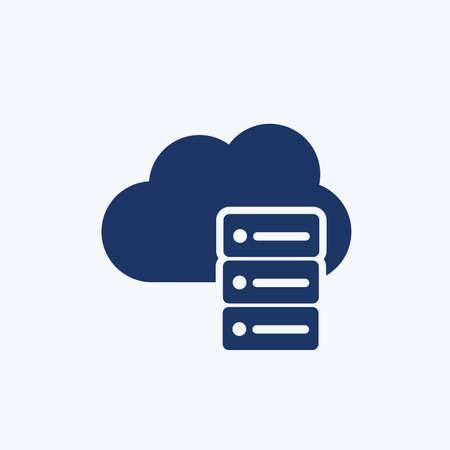 Cloud computing vector icon design 免版税图像 - 155198152