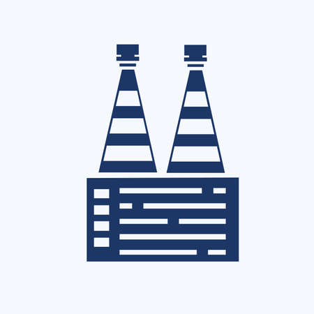 Industrial vector icon set design