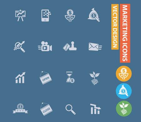 Marketing vector icon set design