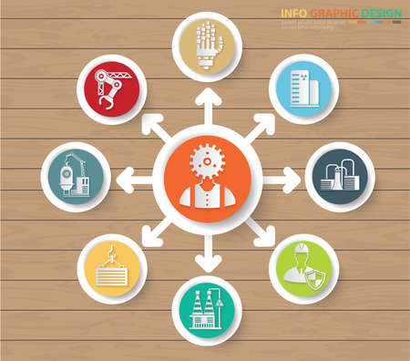 Industry and construction vector icon set design