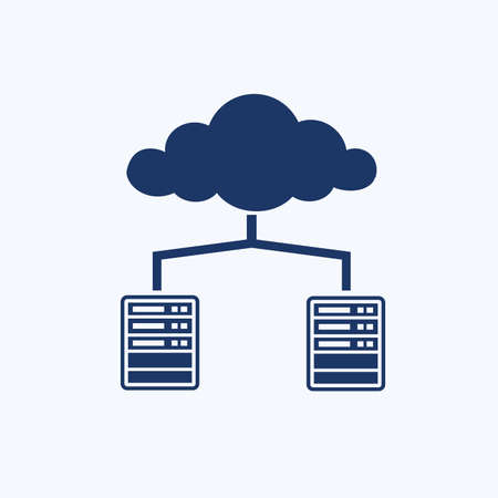 Cloud computing vector icon design