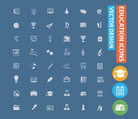 Education and school icon set vector design