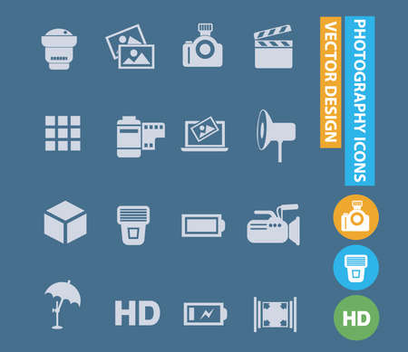 Photography vector icon set design 矢量图像